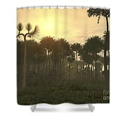 A Carboniferous Forest Of Midwestern Shower Curtain
