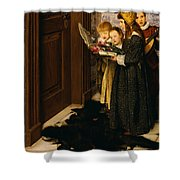 A Carol Shower Curtain by Laura Theresa Alma-Tadema