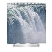 A Cascade Of Water Thunders Shower Curtain