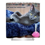 A Cats Function Shower Curtain