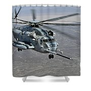 A Ch-53e Super Stallion Approaches Shower Curtain