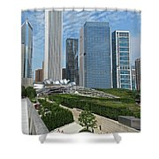 A Chicago View Shower Curtain