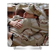 A Chief Master Sergeant Consoles Shower Curtain