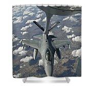 A Chilean Air Force F-16 Refuels Shower Curtain