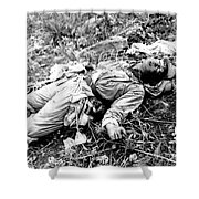 A Chinese Soldier Killed Shower Curtain