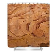 A Close View Sandstone Rocks Of Petra Shower Curtain