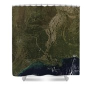A Cloud-free View Of The Southern Shower Curtain by Stocktrek Images