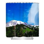 A Cloud Near Mt Rainer  Shower Curtain