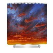 A Cloudy Sunset Shower Curtain