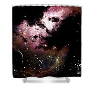 A Cluster Of Bright Young Stars Tear Shower Curtain