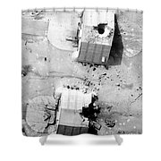 A Coalition Bombing Of Aircraft Hangers Shower Curtain
