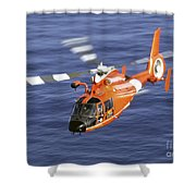 A Coast Guard Hh-65a Dolphin Rescue Shower Curtain by Stocktrek Images