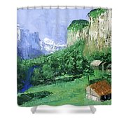 A Cold Clear Day Shower Curtain