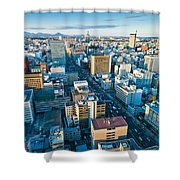 A Cold Day In Sendai Japan Shower Curtain