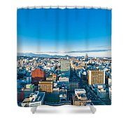 A Cold Sunny Day In Sendai Japan Shower Curtain