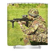 A Coldstream Guard Training In Scotland Shower Curtain