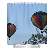 A Colorful Couple. Oshkosh 2012. Shower Curtain