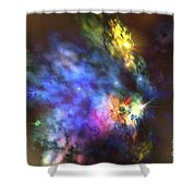 A Colorful Nebula In The Universe Shower Curtain
