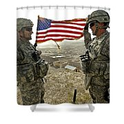 A Commander Re-enlists Master Sergeant Shower Curtain