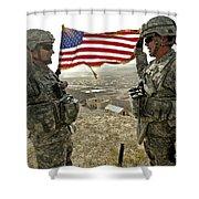 A Commander Re-enlists Master Sergeant Shower Curtain