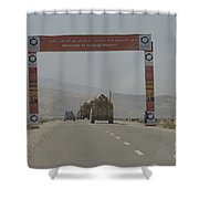 A Convoy Of Cougar Mraps Driving Shower Curtain
