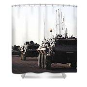 A Convoy Of German Army Tpz Fuchs Shower Curtain