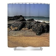 A Cornish Beach  Shower Curtain