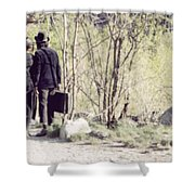 A Couple In The Woods Shower Curtain