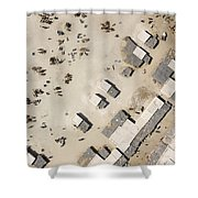A Crowded Camel Market In Nguigmi Shower Curtain
