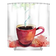 A Cup Of Coffee Shower Curtain