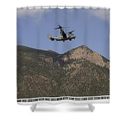 A Cv-22 Osprey Flies Over The 2007 Shower Curtain