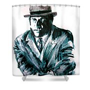 A Dapper Brit-portrait Of Ron Moody Shower Curtain
