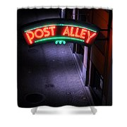 A Dark And Lonely Post Alley - Seattle  Shower Curtain