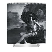 A Day At The Beach 1911 Shower Curtain