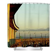 Playland Rye Beach Pier Shower Curtain