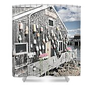 A Day In Bar Harbor Shower Curtain