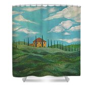 A Day In Tuscany Shower Curtain by John Keaton