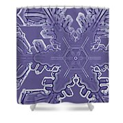 A Dendritic Snowflake Shower Curtain