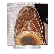 A Dholak Which Is A Musical Instrument  Shower Curtain