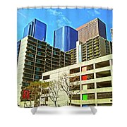 A Different Perspective On Downtown Los Angeles I Shower Curtain