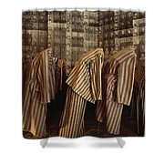 A Display Of Photographs And Uniforms Shower Curtain