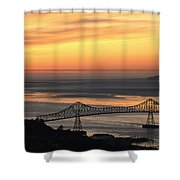 A Distant View Shower Curtain