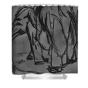 A Draw With An Elephant Shower Curtain
