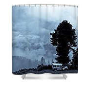 A Dreamlike  View Shower Curtain