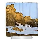 A Dusting On Monument Rocks Shower Curtain