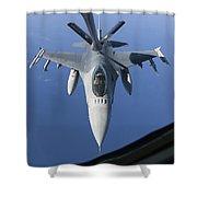 A Dutch F-16am Conducts In-flight Shower Curtain