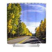 A Fall Drive  Shower Curtain