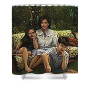 A Family Portrait Shower Curtain