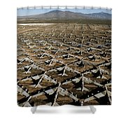 A Field Of Military Planes Shower Curtain
