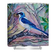 A Fine Feathered Friend Shower Curtain